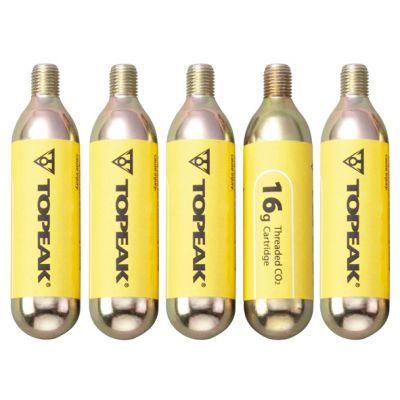 Topeak Co2 patronen (5) met schroefdraad 16 gram