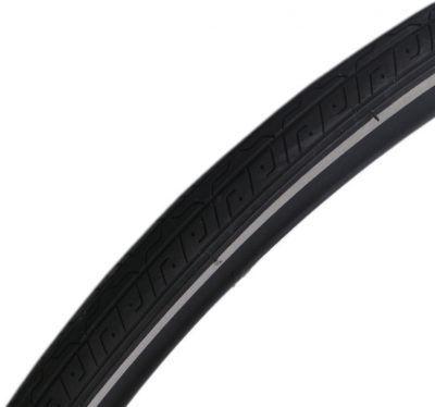 Deli Tire buitenband 27 x 1 1/4 (32-630) - zwart met reflectie