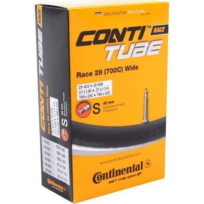 Continental binnenband 27/28 inch Wide Race - 700x25C/28C 28x1-1 1/4 (25/32-622/630) frans ventiel 42mm