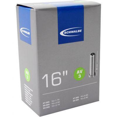 Schwalbe binnenband 16 inch 16x1.75/2.50 (47/62-305) auto ventiel (AV3) 40 mm