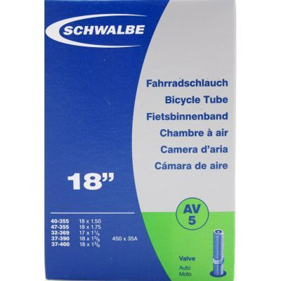 Schwalbe binnenband 18 inch 18x1.3/8-1.75 (32/47-355/400) auto ventiel (AV5) 40 mm