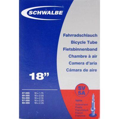 Schwalbe binnenband 18 inch 18x1.3/8-1.75 (32/47-355/400) frans ventiel (SV5A) 40 mm