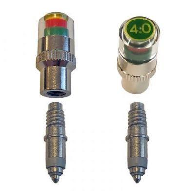 Drukmeter (4 bar) met  hollands (blitz) ventiel set van 2
